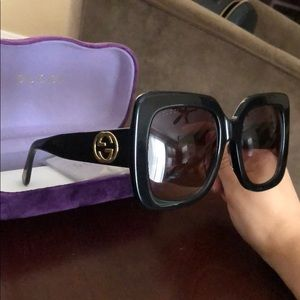 Oversized Gucci Sunglasses